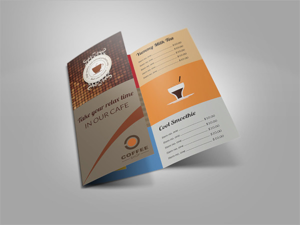 resturant brochure example
