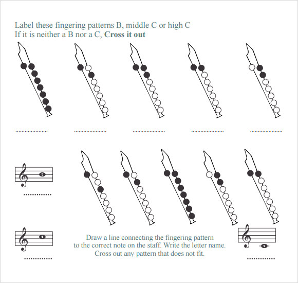 Free 7 Recorder Finger Chart Samples In Pdf