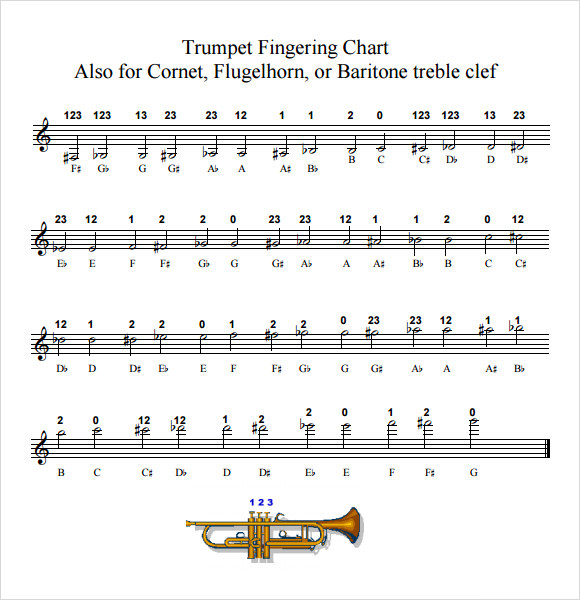 trumpet fingering chart download