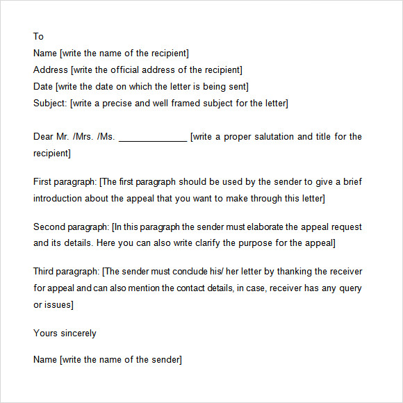 appeal letter template - How To Write A Unemployment Appeal Letter