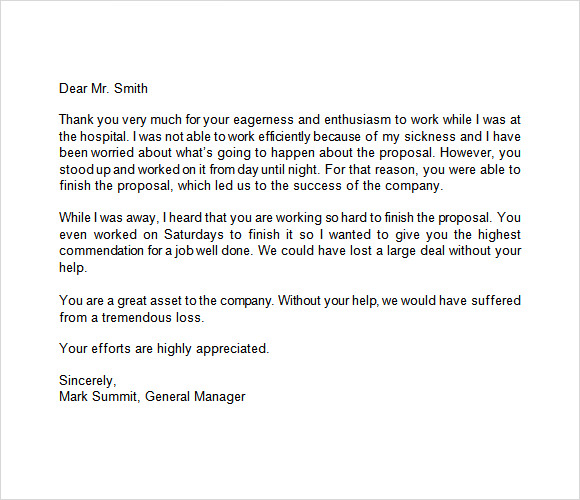 Sample Letter Of Recognition For Job Well Done from images.sampletemplates.com