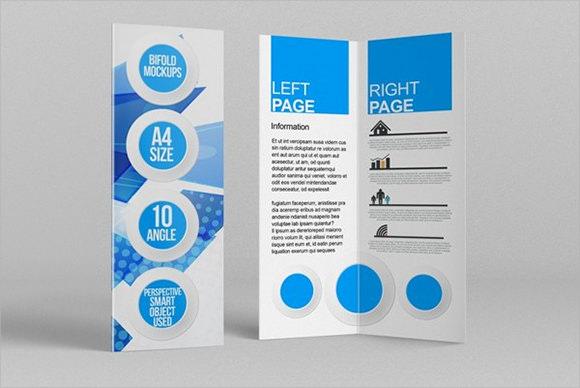 bi fold brochure mockups