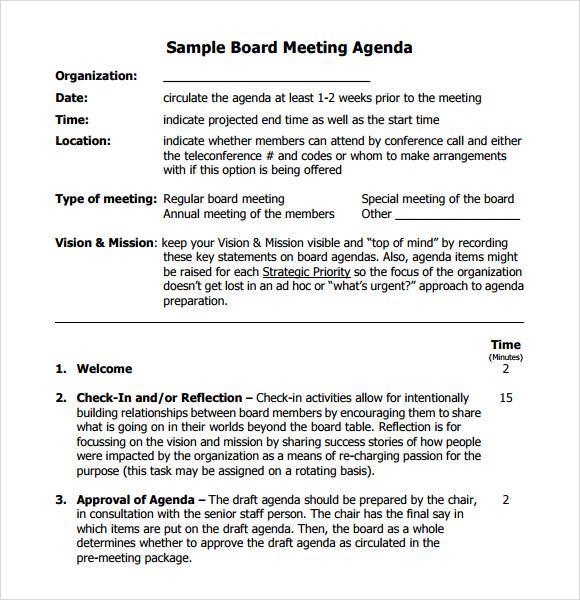 Sample agenda for board meetings zrom maxwellsz