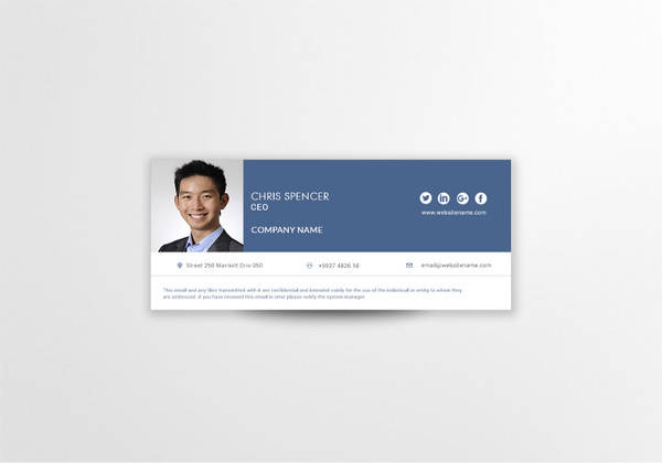 ceo email signature template