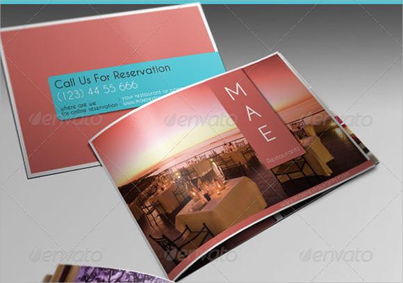 clean restaurant brochure template