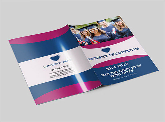 college brochure design template