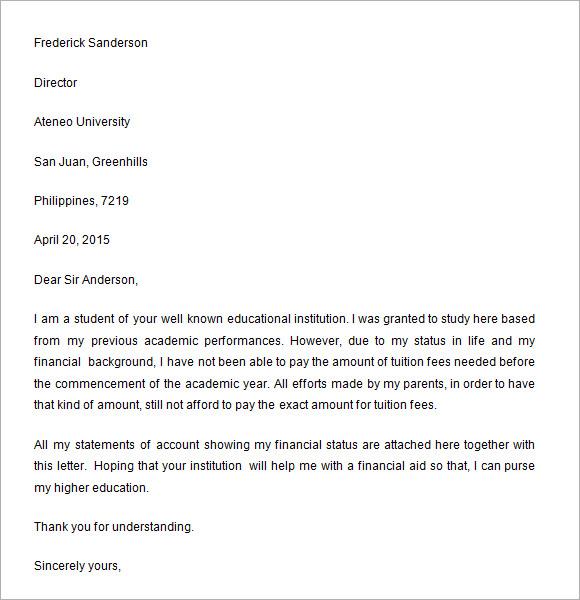 Financial aid essay sample