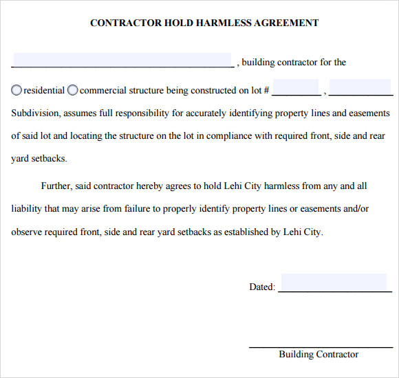 Sample Hold Harmless Agreement - 8+ Documents In PDF, Word