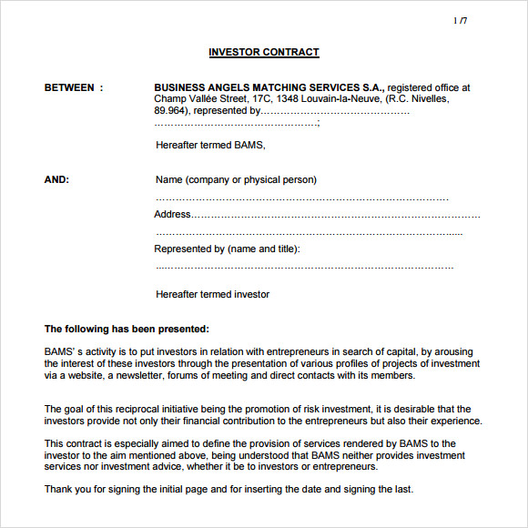 contractual agreement template pdf