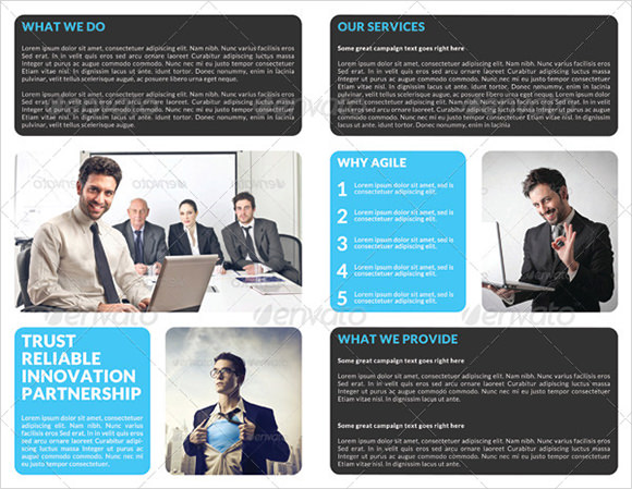creative corporate bi fold brochure