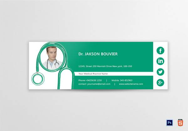 doctor email signature template