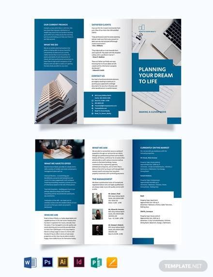 estate planning tri fold brochure template