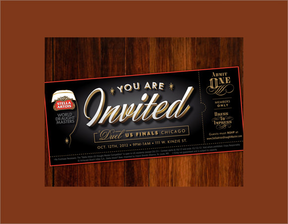 Event Ticket Invitation Template