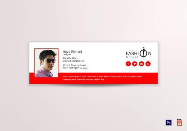 fashion email signature template
