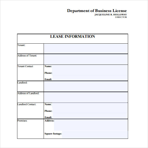 free leasing agreement template