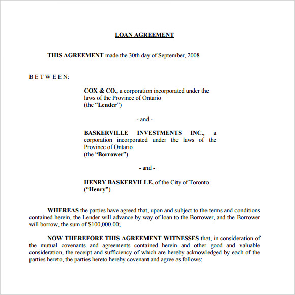 Doc499644 Free Loan Agreement Template Microsoft Loan – Loan Agreement Word Document