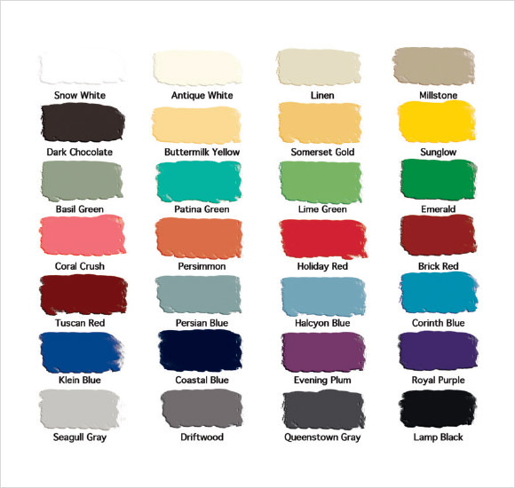 Sample General Color Chart - 7+ Documents In Pdf, Word