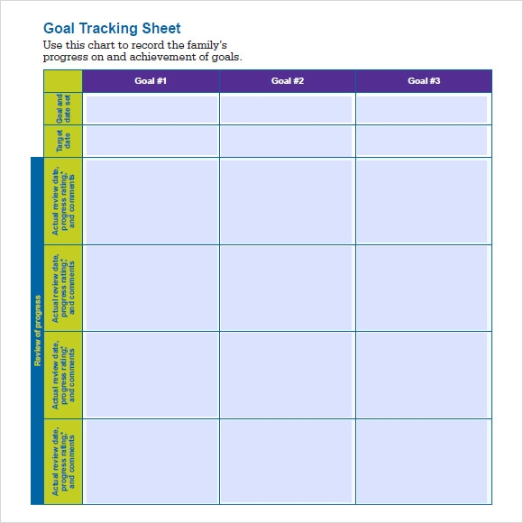 Sample Goal Tracking