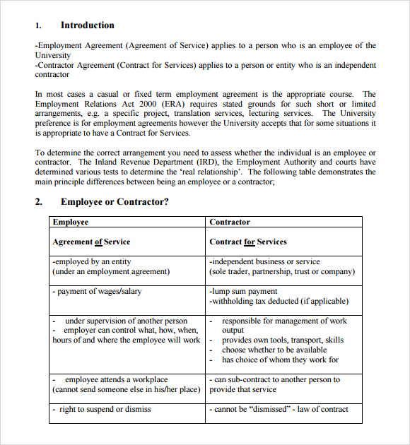 9 Sample Contractual Agreements Sample Templates