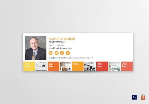 interior designer email signature template