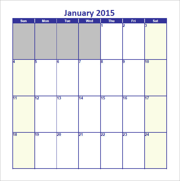 january 2015 calendar pdf
