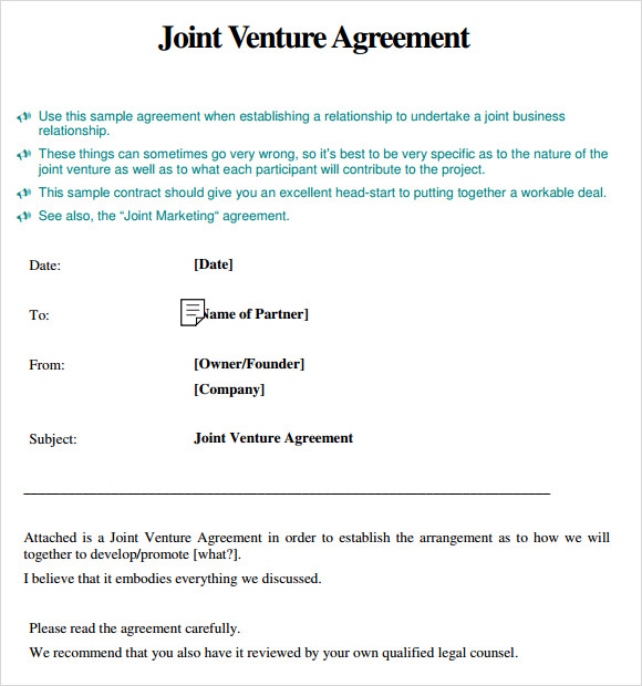 construction joint venture agreement template – Free Joint Venture Agreement Template
