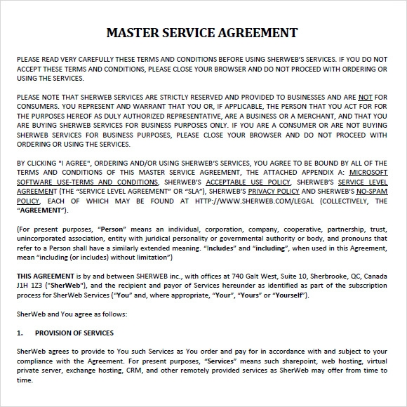master service agreement template playbestonlinegames. Black Bedroom Furniture Sets. Home Design Ideas