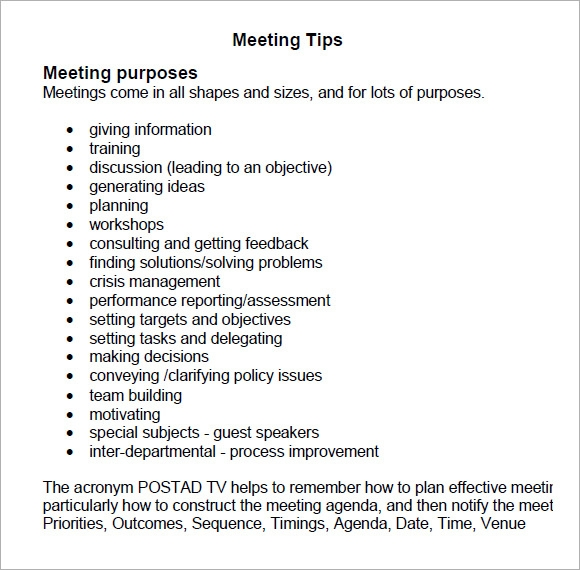 meeting tips pdf
