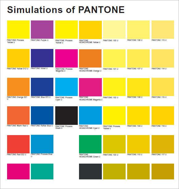 99 Pantone Coated Color Chart 1 Yard Fabric Heatherdutton