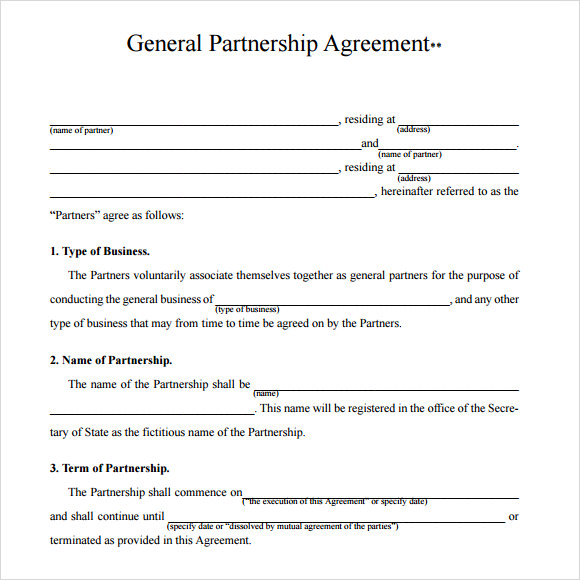 Partnership Agreement Template  Joint Partnership Agreement Template