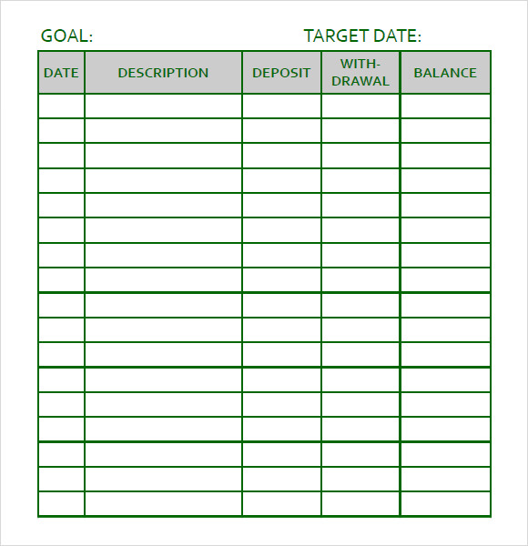 Sample Goal Tracking   Documents In Pdf Word