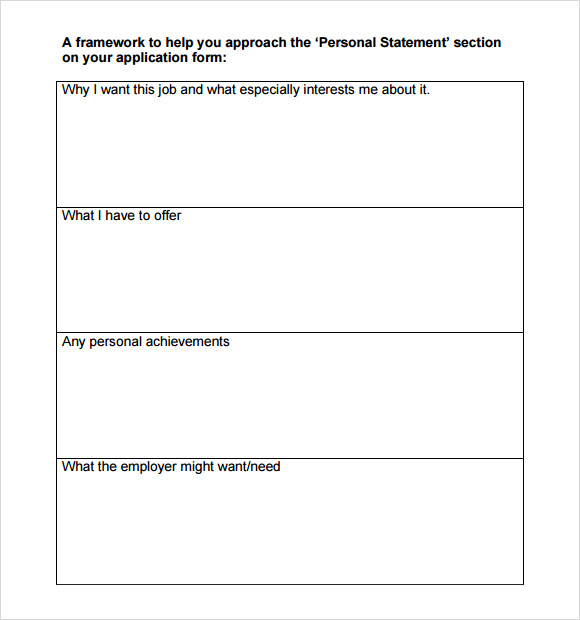 free 9  sample personal statement templates in google docs