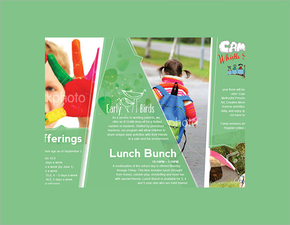 10+ Preschool Brochure - Vector Eps, Psd