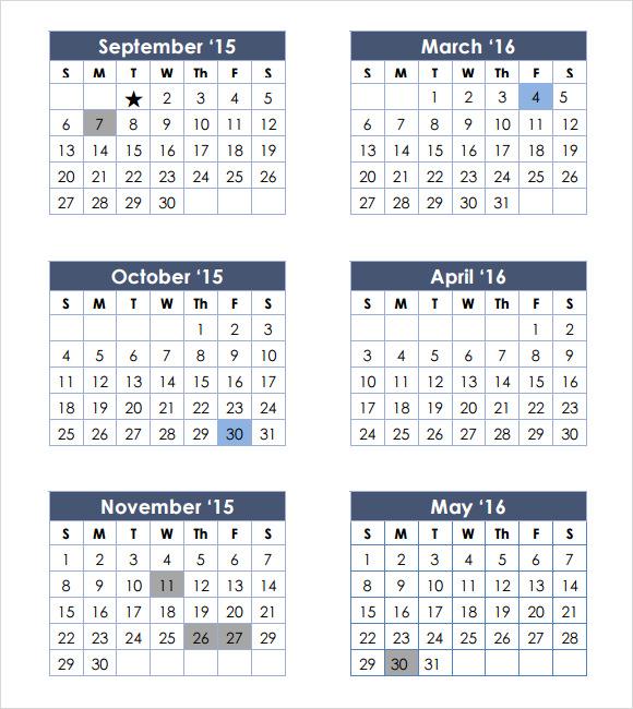 preschool calendar pdf