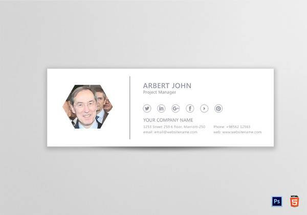 project manager email signature template