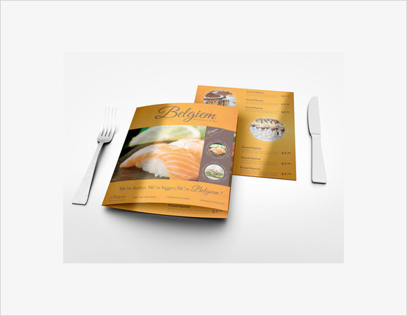 10 Restaurant Brochures Sample Templates