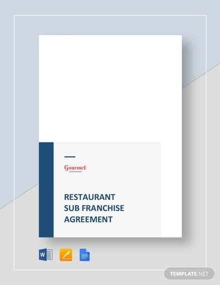 restaurant sub franchise agreement
