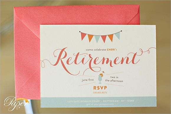 Retirement Party Invitation Template   8  Samples Examples Format KBmgG8OO