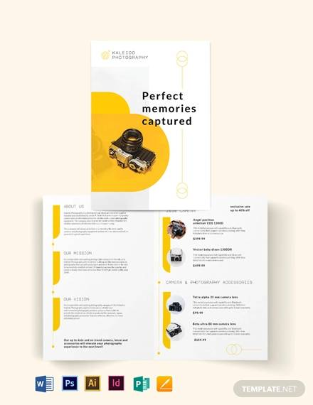 sales bi fold brochure template