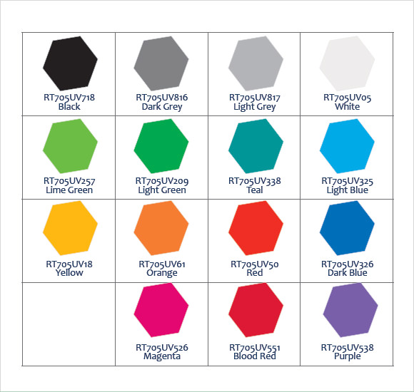Beautiful Sample General Color Chart