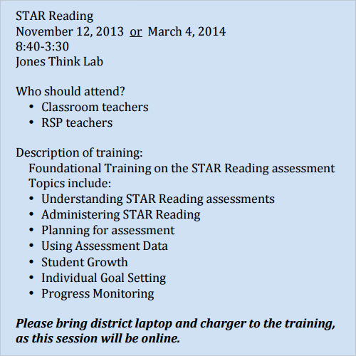 sample star assessment template