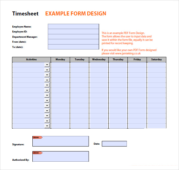 10+ Time Tracking Templates - Free Sample, Example, Format
