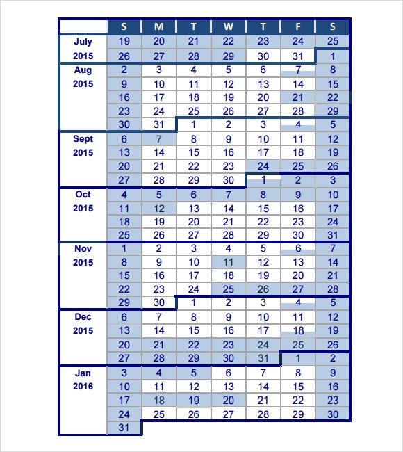 school calendar and more