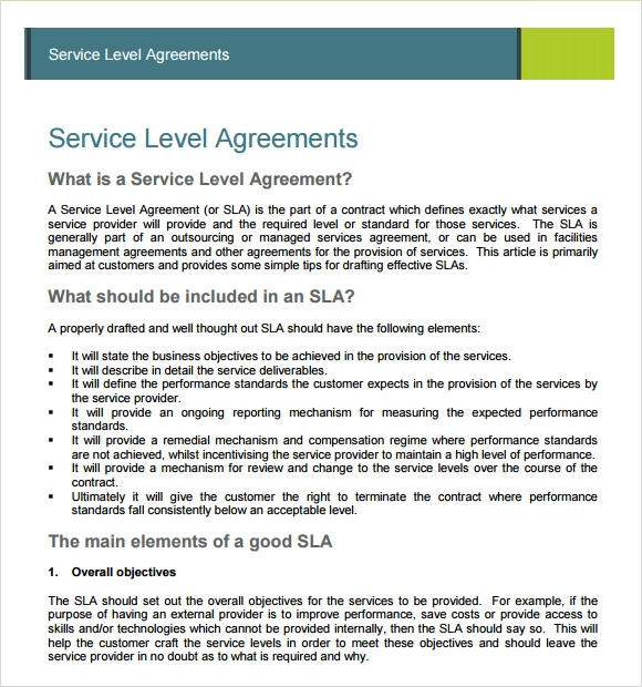 Sample Service Agreement 7 Example Format