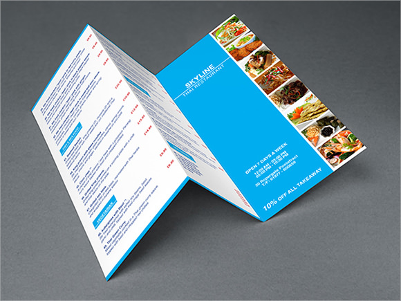 skyline restaurant brochure template