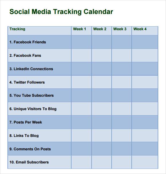Social Media Calendar Template - Social media marketing schedule template