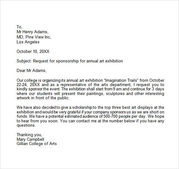 sponsorship letter template .