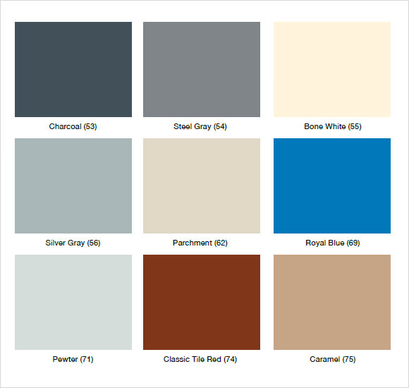 Sample General Color Chart   Documents In Pdf Word