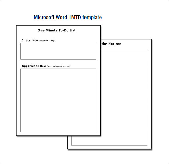 word template to do list