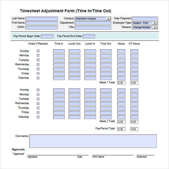 Time Tracking Templates  Free Sample Example Format